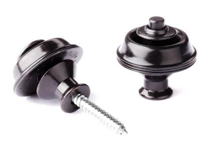 Dunlop Straplok System Dual Design 2er Black Oxid