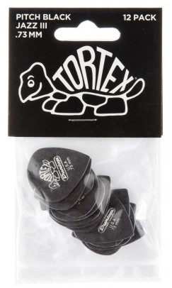Dunlop Tortex Black Jazz III Sharp  73mm 12er Bag