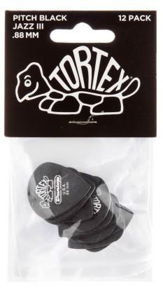 Dunlop Tortex Black Jazz III Sharp  88mm 12er Bag