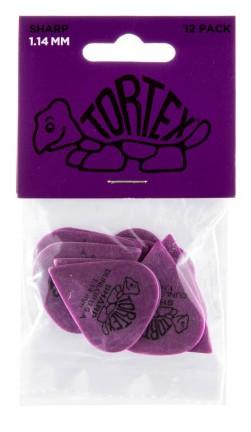 Dunlop Tortex Sharp 1 14mm Purple 12er Bag