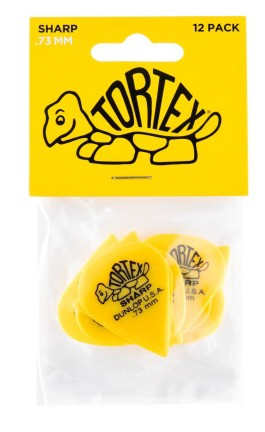 Dunlop Tortex Sharp  73mm Yellow 12er Bag