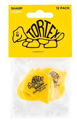 Dunlop Tortex Sharp  73mm Yellow 12er Bag