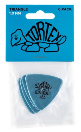 Dunlop Tortex Triangle 1 0mm Blue 6er Bag
