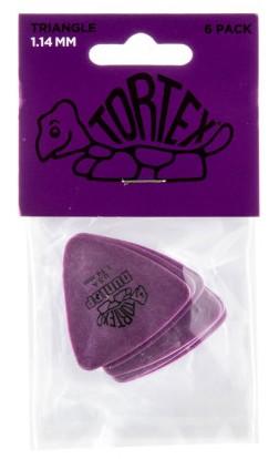 Dunlop Tortex Triangle 1 14mm Purple 6er Bag