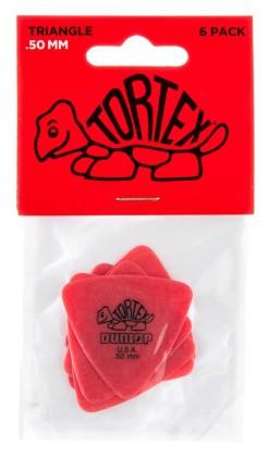Dunlop Tortex Triangle  50mm Red 6er Bag