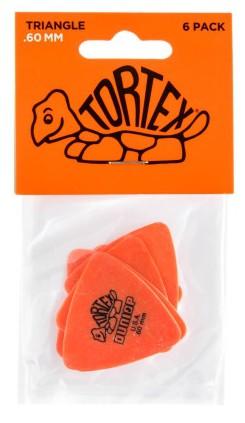 Dunlop Tortex Triangle  60mm Orange 6er Bag