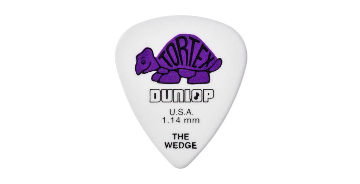Dunlop Tortex Wedge 1 14mm purple 12er Bag