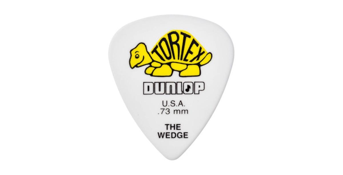 Dunlop Tortex Wedge  73mm yellow 12er Bag