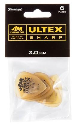 Dunlop Ultex Sharp 2 0mm 6er Bag 433P2 0