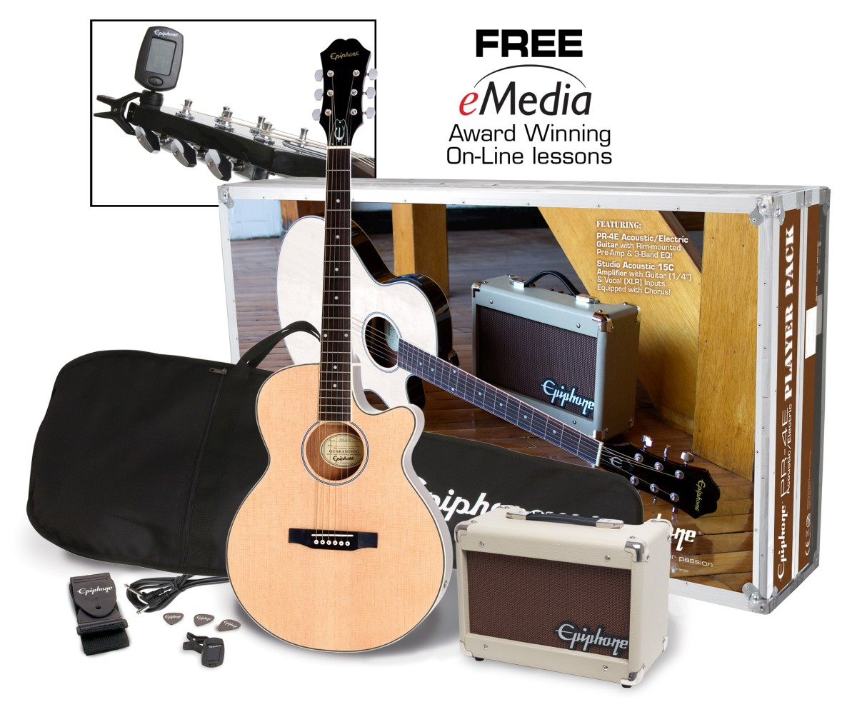Epiphone PR 4 E Acoustic Electric Pack Natural