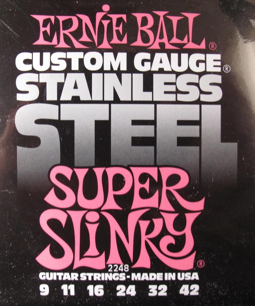 Ernie Ball 2248 9 42 Super Slinky Stainless