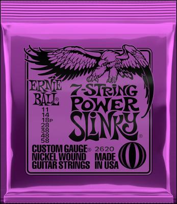Ernie Ball 2620 11 58 7 String Power Slinky