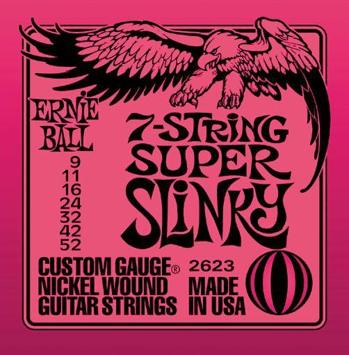 Ernie Ball 2623 9 52 7 String Super Slinky