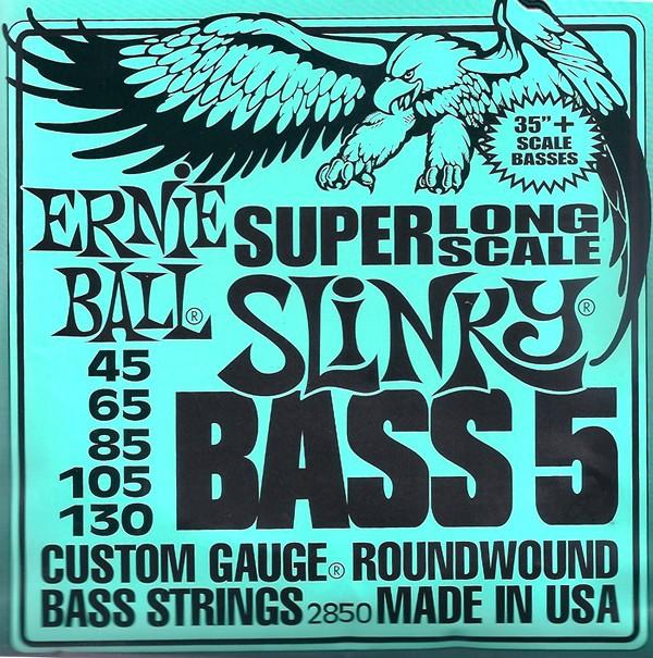 Ernie Ball 2850 Super Long Scale Bass 5 45 130
