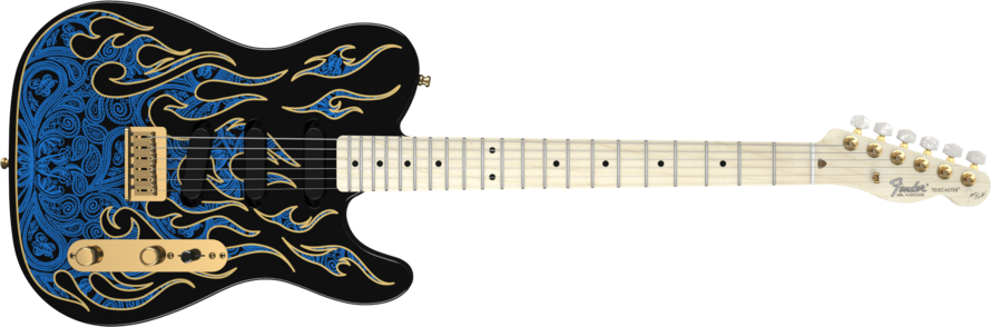 Fender James Burton Telecaster Blue Paisley Flames