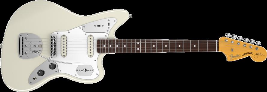 Fender Johnny Marr Jaguar Olympic White RW