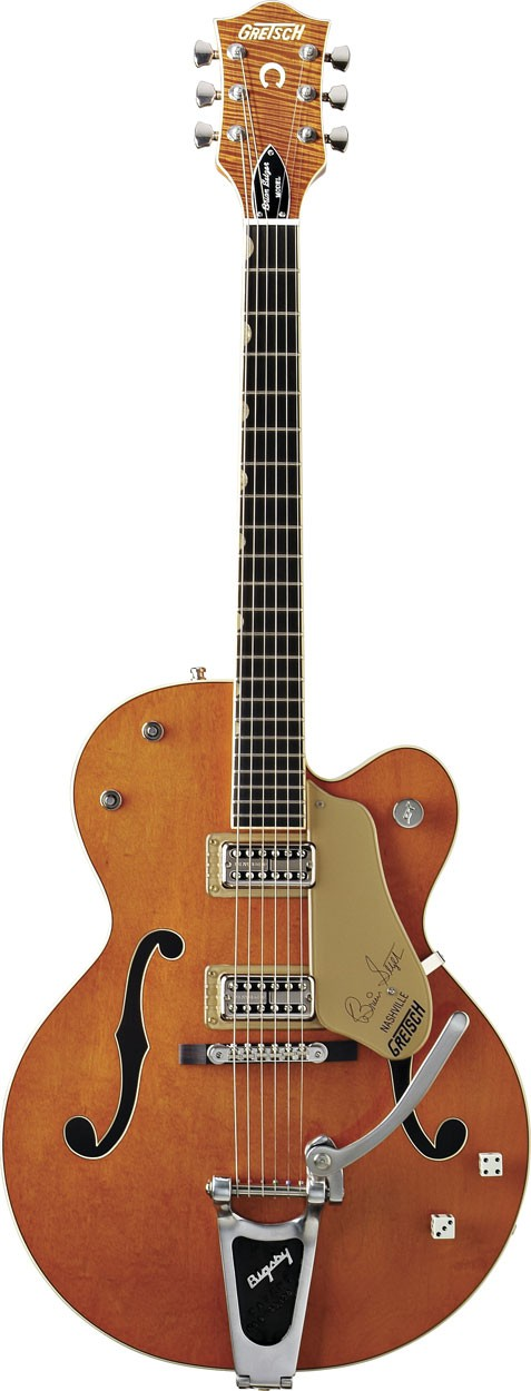 Gretsch G6120SSL Brian Setzer Orange Tiger Flame