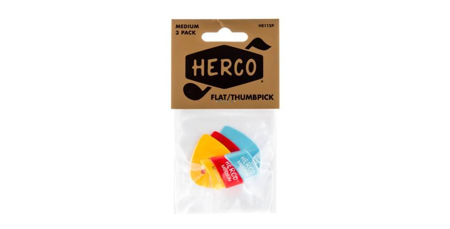 Herco HE112P Flat Thumpicks 3 St    ck medium