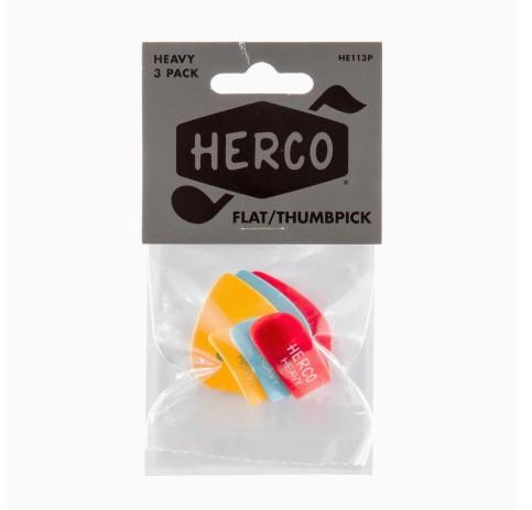 Herco HE113P Flat Thumpicks 3 St    ck heavy