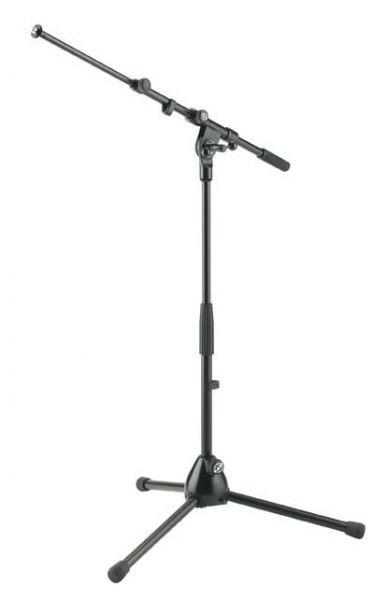 K M 25900 Mikrofonst    nder halbhoch schwarz