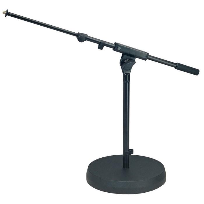 K M 25960 Mikrofonst    nder Rundsockel niedrig blk