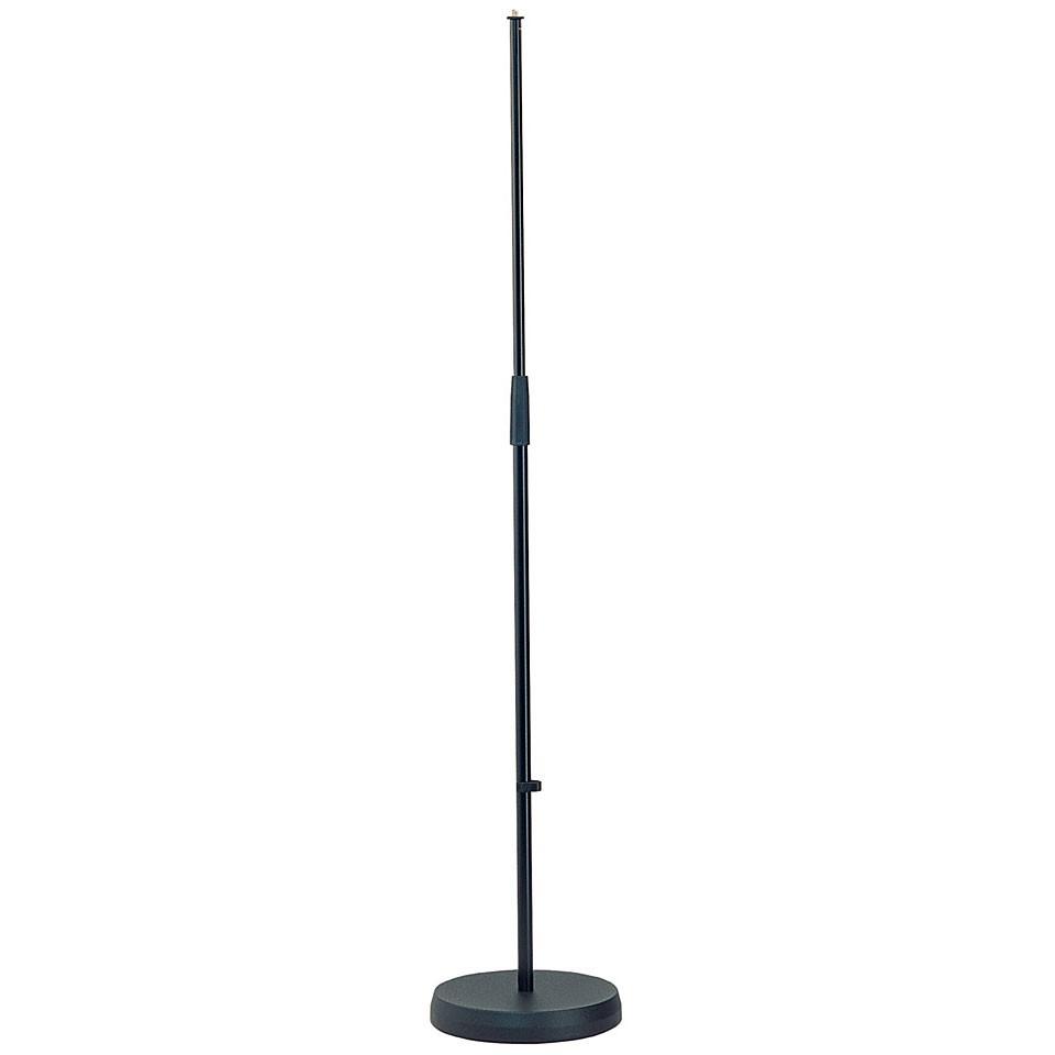 K M 26000 Mikrofonst    nder Rundsockel schwarz