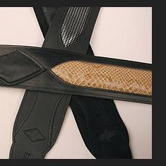 Ledergurt Blk Sword  Snakeskin Insert