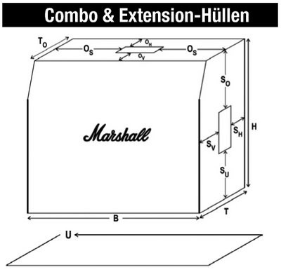 Marshall MRCOVR00025 H    lle 2x10 Acoustic Combo