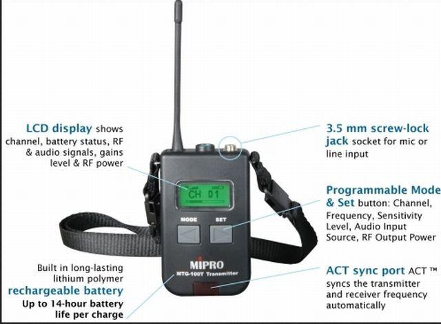 Mipro MTG 100 R Mini Empf    nger
