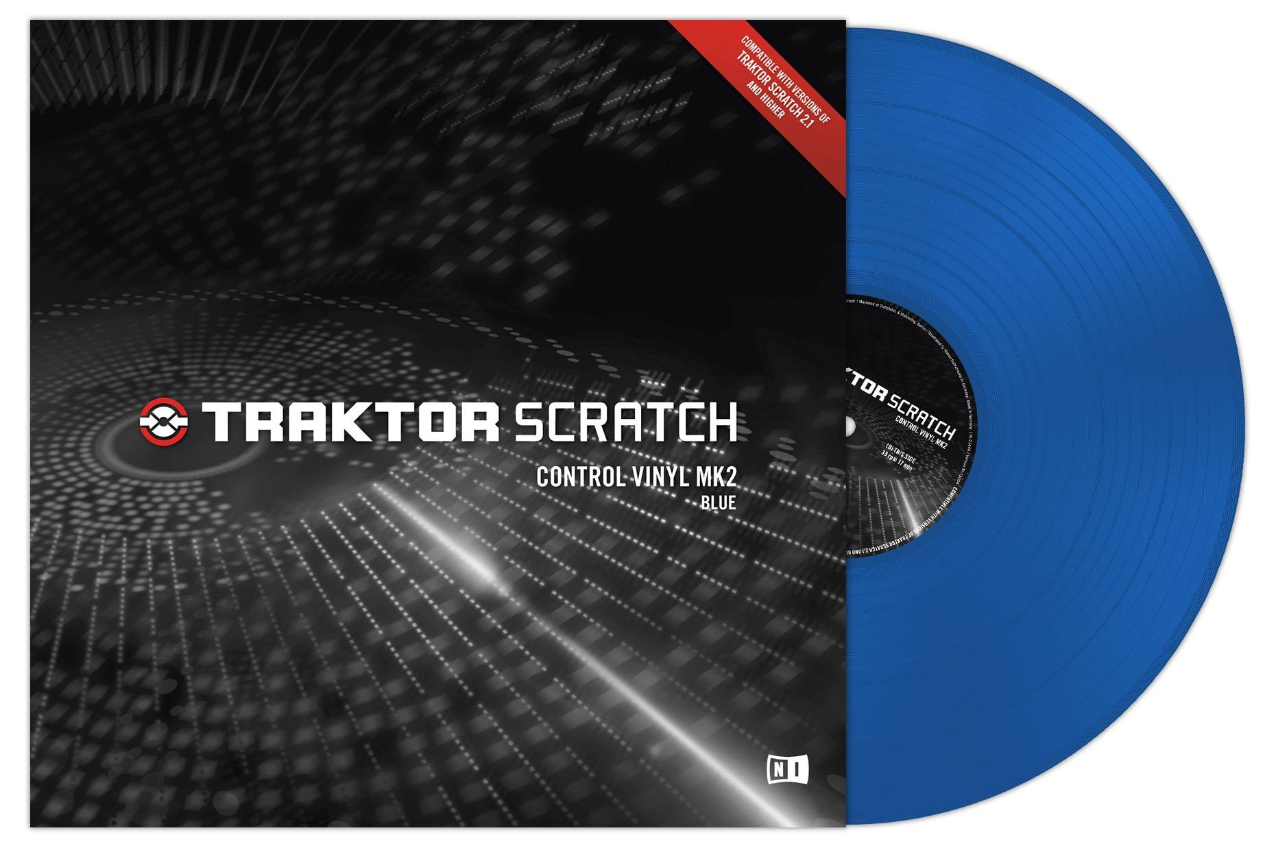 Native Instruments Traktor Scratch Vinyl MKII Blue