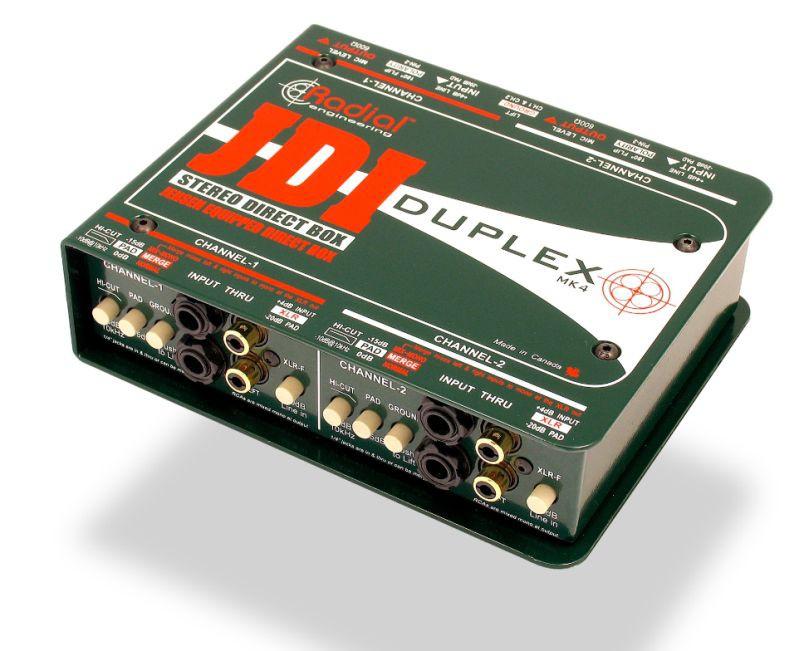 Radial JDI Duplex Passiv DI Box 2 Channel