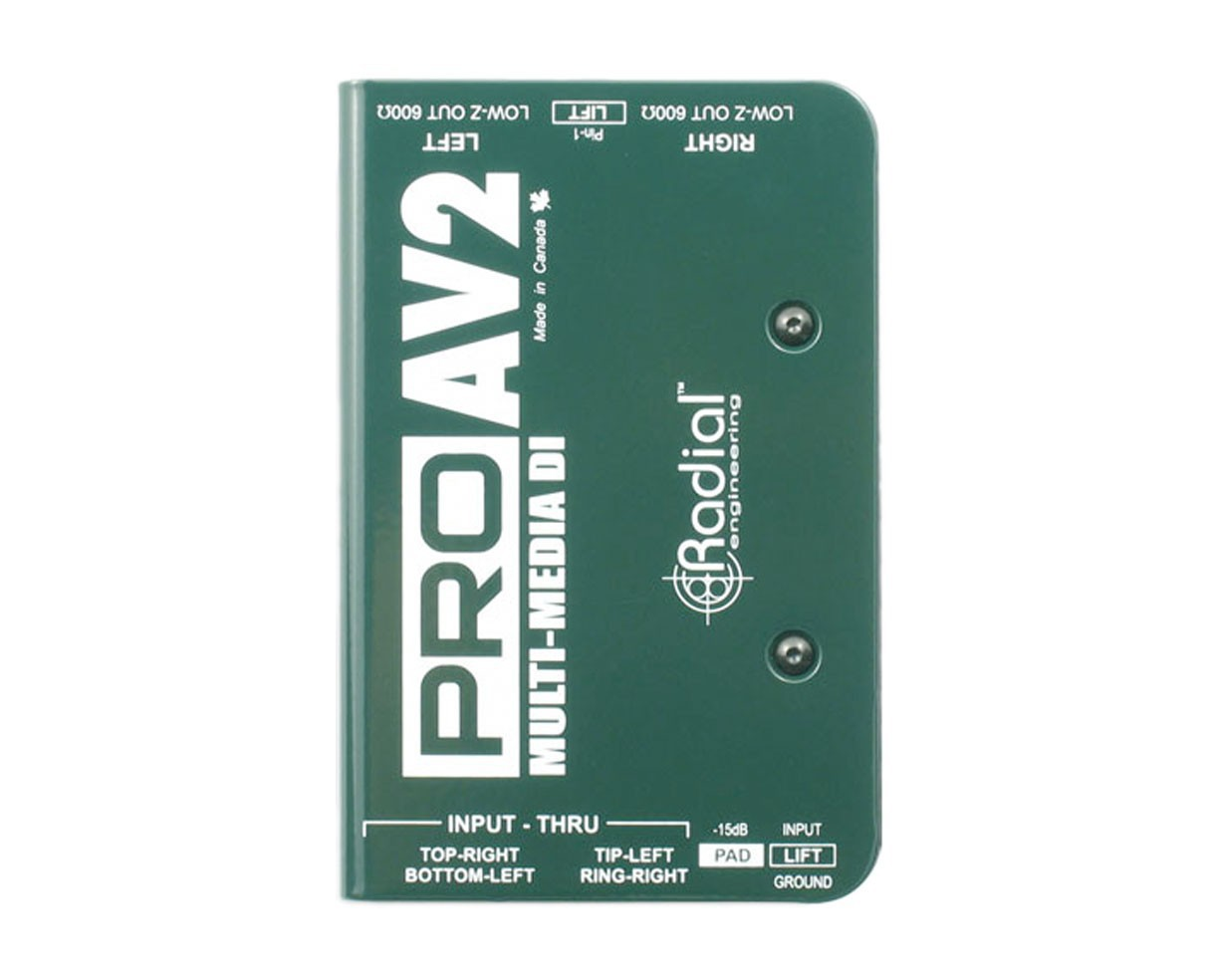 Radial Pro AV2 Passiv Multimedia DI Box 2 Channel