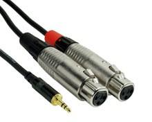 Rock Cable RCIN2MPFX 2x XLRf  Mini Jack 2m