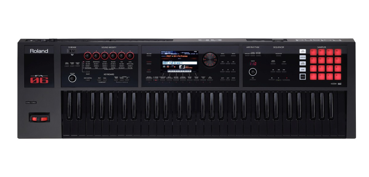 Roland FA 06B Music Workstation Black Series Ltd