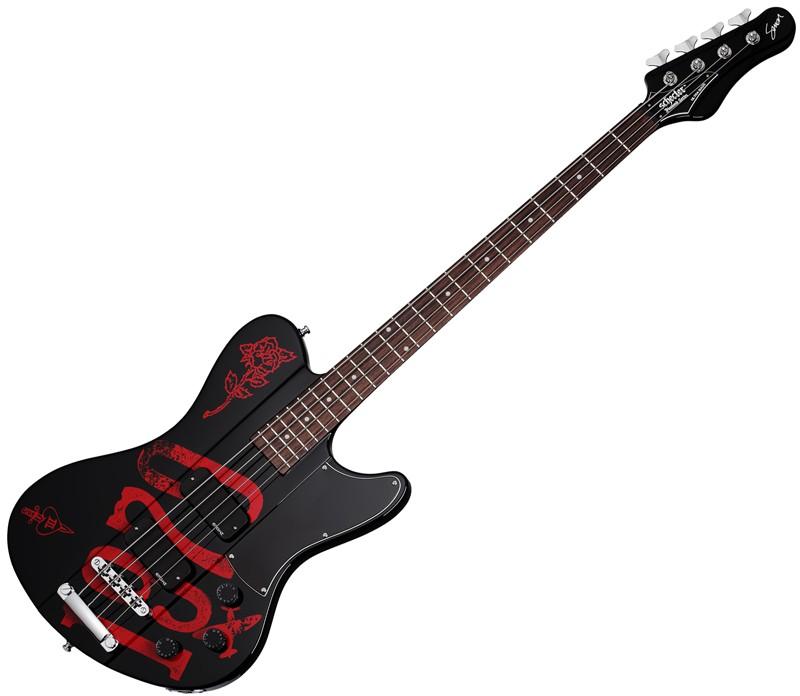 Schecter Simon Gallup Ultra Bass Black Red