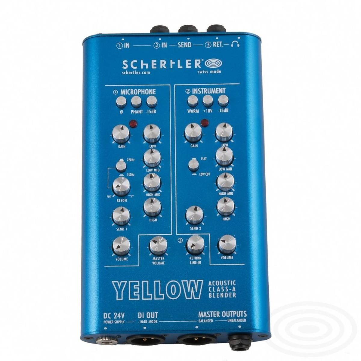Schertler Yellow Blender 3 Channel Preamp