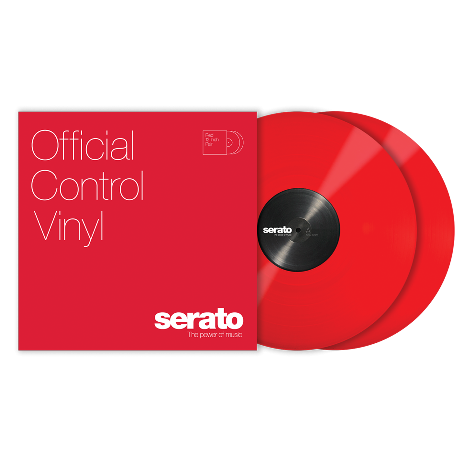 Serato Control Vinyl Performance Red
