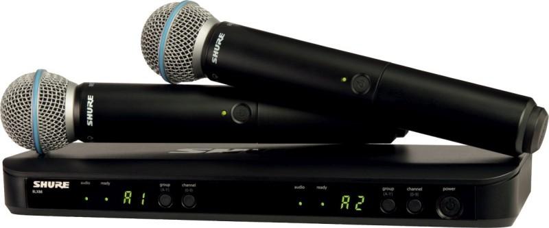 Shure BLX 288E M17 B58 Beta Wireless Analog Combo