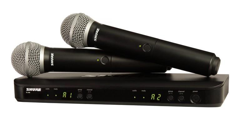 Shure BLX 288E M17 PG58 PG Wireless Analog Combo