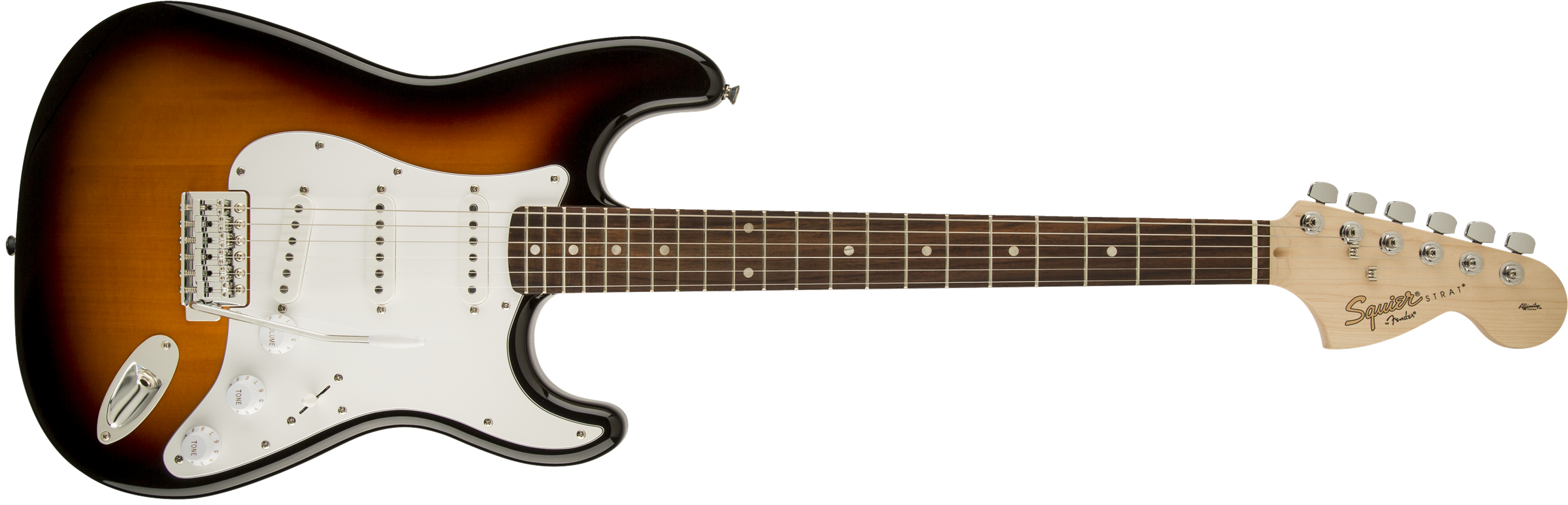 Squier Affinity Stratocaster Brown Sunburst Laurel