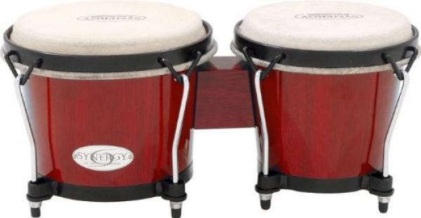 Toca 2100RR Synergy Wood 6  Bongos Rio Red