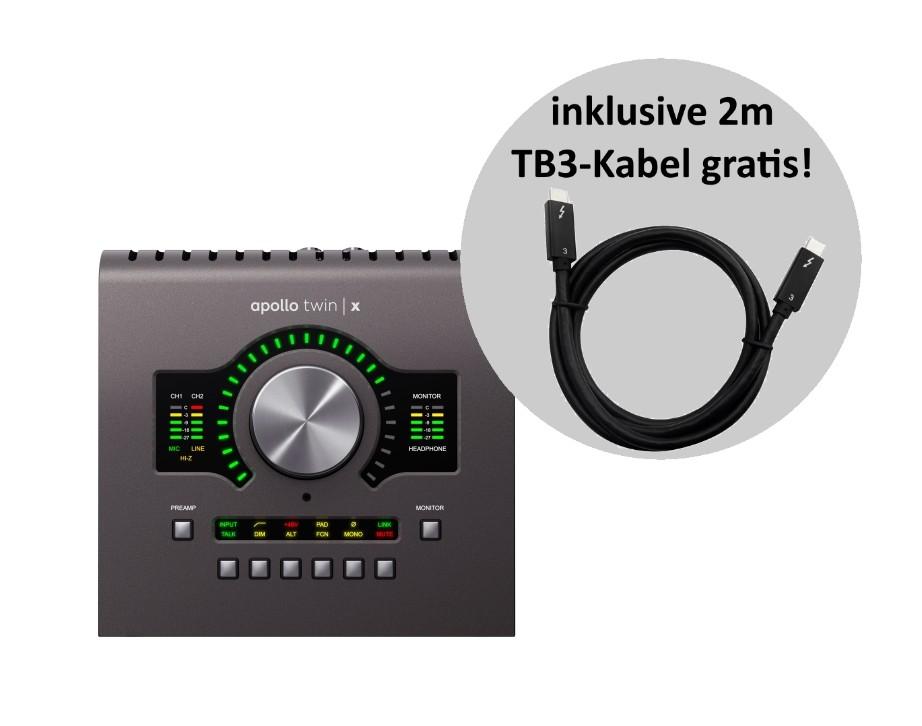Universal Audio Apollo Twin X Quad   TB3 Kabel PRO