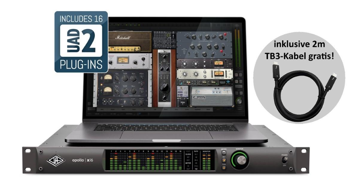 Universal Audio Apollo X16   TB3 Kabel 2m PROMO