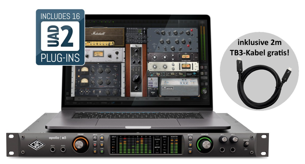 Universal Audio Apollo X8   TB3 Kabel 2m PROMO
