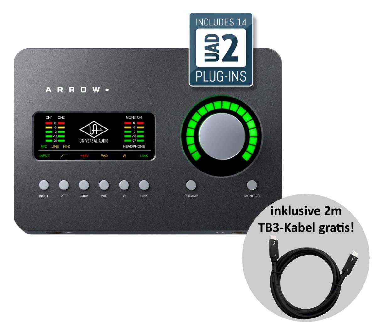 Universal Audio Arrow   gratis TB3 Kabel 2m