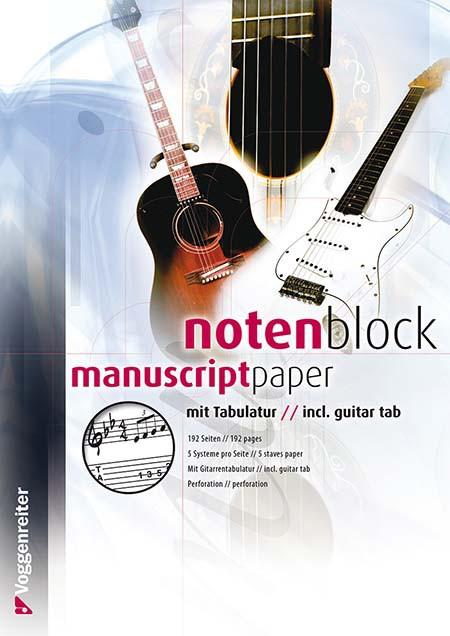 Voggenreiter Notenblock mit Tabulatur 192 Seiten