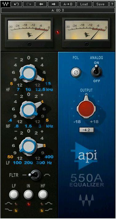 Waves API 550 License