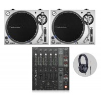 Behringer Audio Technica LP140XP Silv DJ Vinylset