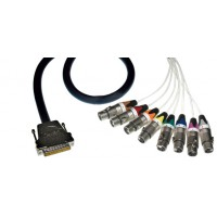 Contrik NMC08DF 1 D Sub Multicorekabel analog 1m