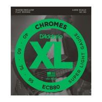 D Addario ECB80 40 95 Chromes Flat Wound